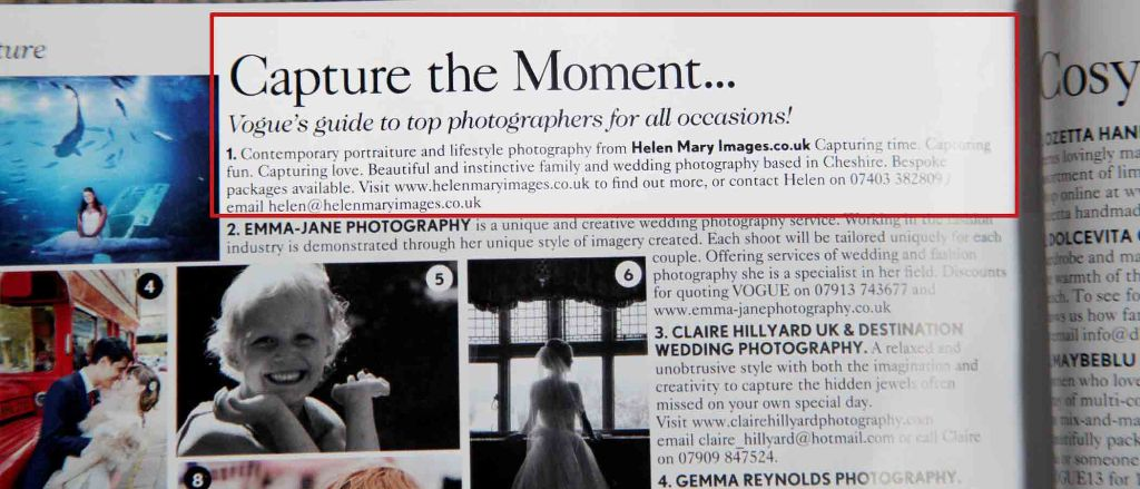 vogue1 - Natural Children's photography Hale and Altrincham - Image in British Vogue