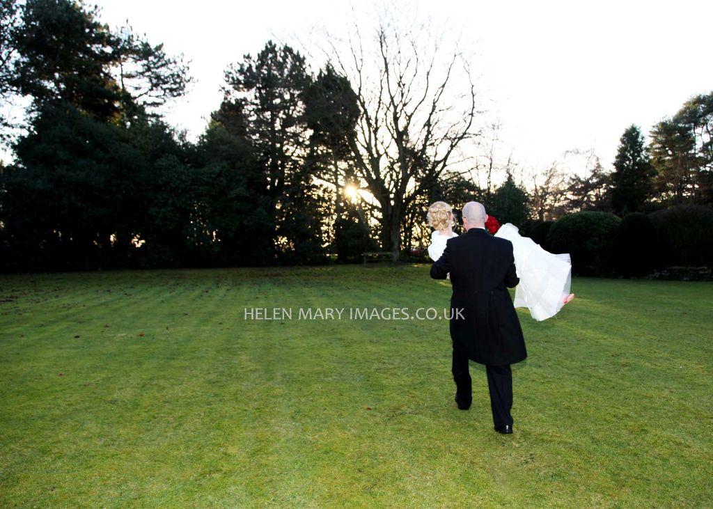 romance - Winter wedding photography Cheshire