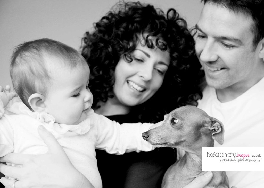 fb - Family portrait photography Hale - Capturing a 7 month old baby with the family dog